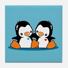 Cute Penguins Tile Coaster