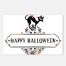 Cat - Happy Halloween, Mu Postcards (Package of 8)