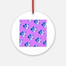 Blue Violet Glory Brenda's Fave Round Ornament
