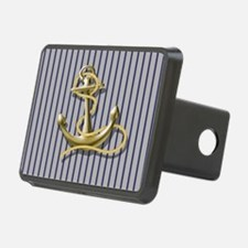 blue pin stripes beach anc Hitch Cover