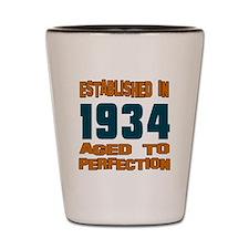 Established In 1934 Shot Glass