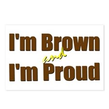 I'm Brown & I'm Proud Postcards (Package of 8)