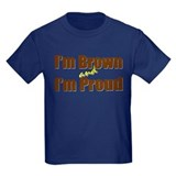 Brown pride Kids T-shirts (Dark)