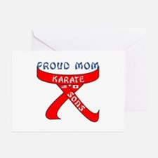 Proud Karate Mom Sons Greeting Cards (Pk of 10)