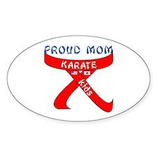 Proud Mom Karate Kids Oval Decal