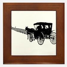 Horse and Buggy Framed Tile