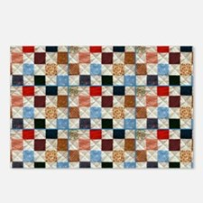 Colorful quilt pattern Postcards (Package of 8)