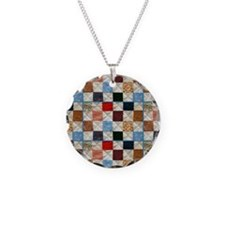 Colorful quilt pattern Necklace