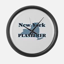 New York Plasterer Large Wall Clock