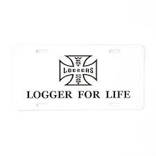 logger for life.psd Aluminum License Plate