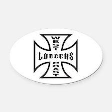 WestCoastLoggers.psd Oval Car Magnet