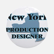 New York Production Designer Round Ornament