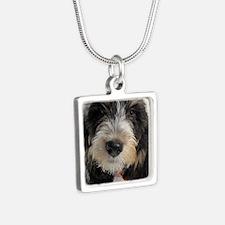 GBGV Puppy Silver Square Necklace