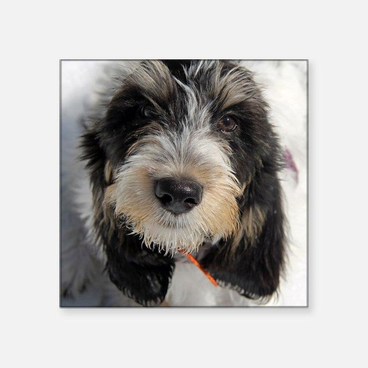 """GBGV Puppy Square Sticker 3"""" x 3"""""""