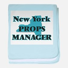 New York Props Manager baby blanket