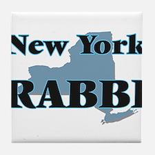 New York Rabbi Tile Coaster