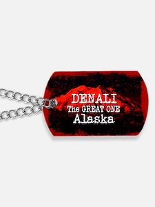DENALI MOUNTAIN ALASKA RED Dog Tags
