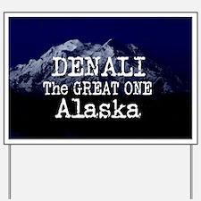 DENALI MOUNTAIN ALASKA BLUE Yard Sign