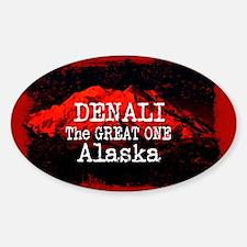 DENALI MOUNTAIN ALASKA RED Decal