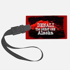 DENALI MOUNTAIN ALASKA RED Luggage Tag