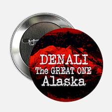 "DENALI MOUNTAIN ALASKA RED 2.25"" Button (10 pack)"