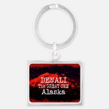 DENALI MOUNTAIN ALASKA RED Keychains