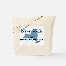 New York Radio Sound Technician Tote Bag