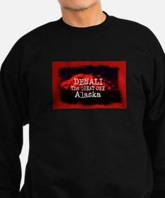 DENALI MOUNTAIN ALASKA RED Sweatshirt