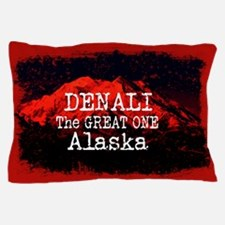DENALI MOUNTAIN ALASKA RED Pillow Case