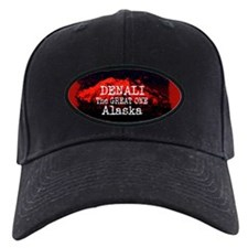 DENALI MOUNTAIN ALASKA RED Baseball Hat