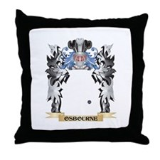 Osbourne- Coat of Arms - Family Crest Throw Pillow