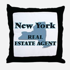 New York Real Estate Agent Throw Pillow