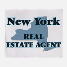New York Real Estate Agent Throw Blanket