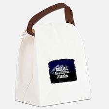 DENALI MOUNTAIN ALASKA BLUE Canvas Lunch Bag