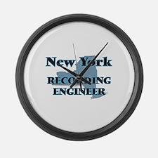 New York Recording Engineer Large Wall Clock