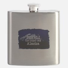 DENALI MOUNTAIN ALASKA BLUE Flask