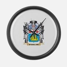 O'Shelvin Coat of Arms - Family C Large Wall Clock