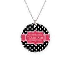 Chic Polka Dot Monogram Necklace