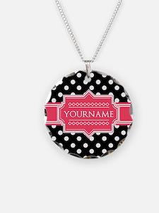 Chic Polka Dot Monogram Necklace