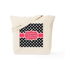 Chic Polka Dot Monogram Tote Bag
