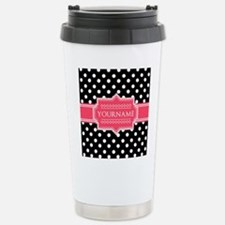 Chic Polka Dot Monogram Travel Mug