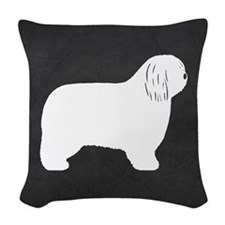 Polish Lowland Sheepdog Woven Throw Pillow