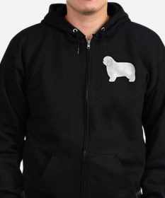 Polish Lowland Sheepdog Zip Hoodie (dark)