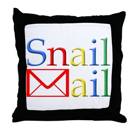 Snail Mail Throw Pillow