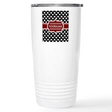 Red Black Polka Dot Mo Travel Mug