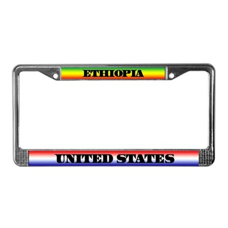 Ethiopia/USALicense Plate Frame