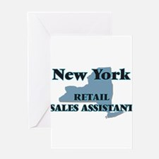 New York Retail Sales Assistant Greeting Cards