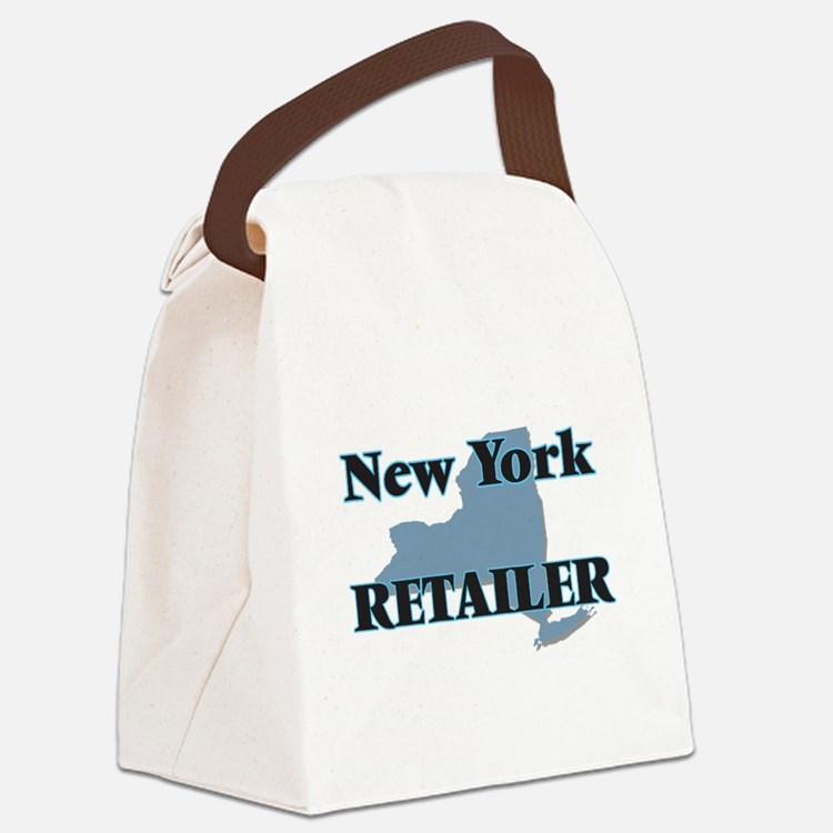 New York Retailer Canvas Lunch Bag