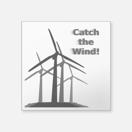 Catch the Wind Rectangle Sticker