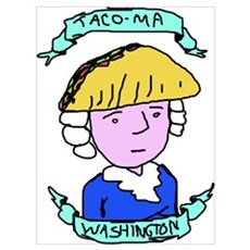 Taco Meat Tacoma Washington Poster